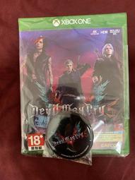 刷卡 二手美品 (中文特典全部未使用)送別針 Xbox one 惡魔獵人5 中文版 另售 惡靈古堡2 重製版 碧血狂殺2