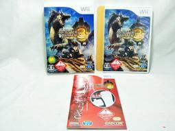 【梅花三鹿】任天堂 Wii 魔物獵人3 Monster Hunter 3 精裝紙盒包裝