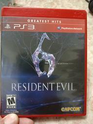 PS3 2手原廠遊戲片 惡靈古堡6 Resident Evil 6 英文版