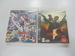 PS3 日版 GAME 2品套組 機動戰士鋼彈 極限 VS./惡靈古堡5(無說明書)(41331712)
