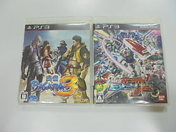 PS3 日版 GAME 2品套組 機動戰士鋼彈 極限 VS.(無說明書/戰國 BASARA 3(41496725