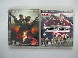 PS3 日版 GAME 2品套組 世界足球競賽2010 (光碟有刮傷)/惡靈古堡5(表紙有破)(41314128)