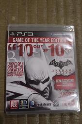PS3 蝙蝠俠 阿卡漢城市 年度合輯版(亞英版)